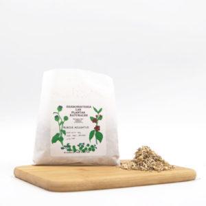 bolsa y semillas de rusco